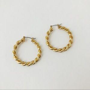Vintage Gold Tone Hoops